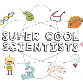 super cool scientist logo-with icons-color